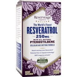 Reserveage Organics The World's Finest Resveratrol with Pterostilbene (250mg) 60 vcaps