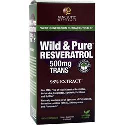 Genceutic Naturals Wild & Pure Resveratrol (500mg) 60 vcaps