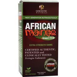 GENCEUTIC NATURALS African Mango + Green Tea 60 vcaps