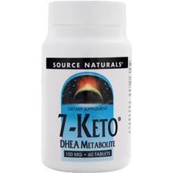 Source Naturals 7-Keto DHEA Metabolite (100mg) 60 tabs
