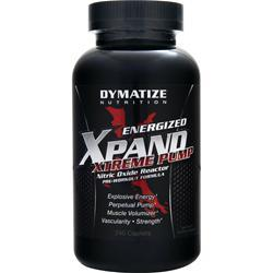 DYMATIZE NUTRITION Energized Xpand Xtreme Pump - Nitric Oxide Reactor 240 caps
