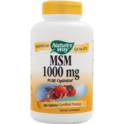 NATURE'S WAY MSM (1000mg) 200 tabs