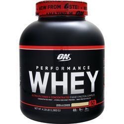 Optimum Nutrition Performance Whey Vanilla Shake 4.19 lbs