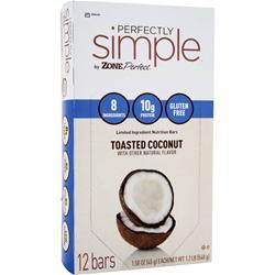 ZONE PERFECT Perfectly Simple Bar Toasted Coconut 12 bars