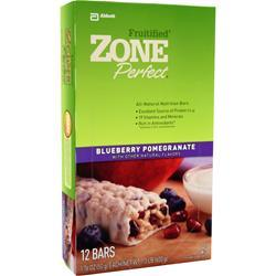 ZONE PERFECT Fruitified Bar Blueberry Pomegranate 12 bars