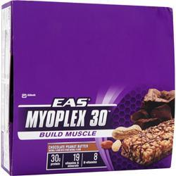 EAS Myoplex 30 Bar Chocolate Peanut Butter 6 bars