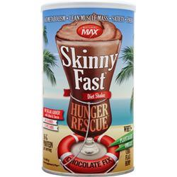 NATURAL MAX Skinny Fast Diet Shake - Hunger Rescue Chocolate Fix 17 oz