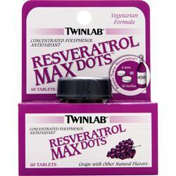 TWINLAB Resveratrol MAX Dots Grape 60 tabs