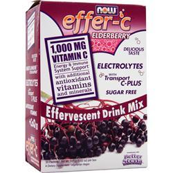 NOW Effer-C Elderberry 30 pckts