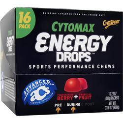 CYTOSPORT Cytomax Energy Drops - Sports Performance Chews Pomegranate/Tropical Frui 16 pckts