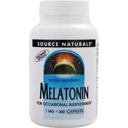 SOURCE NATURALS Melatonin (1mg) 200 caps