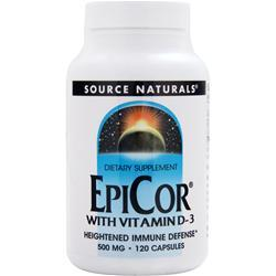SOURCE NATURALS EpiCor With Vitamin D-3 120 caps