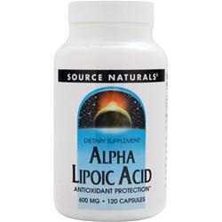 SOURCE NATURALS Alpha Lipoic Acid (600mg) 120 caps