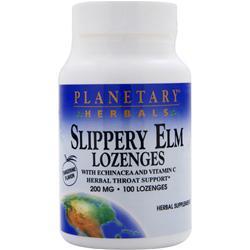 PLANETARY FORMULAS Slippery Elm Lozenges (200mg) Tangerine Flavor 100 lzngs