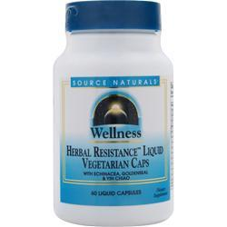 SOURCE NATURALS Wellness Herbal Resistance Liquid Vegetarian Caps 60 caps