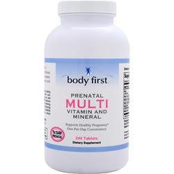 BODY FIRST Prenatal Multi – Vitamin and Mineral Best by 4/15 240 tabs