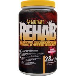 Fit Foods Mutant Rehab - Complete Post Workout Muscle and Joint Therapy Freaky Fruit Punch 2.8 lbs