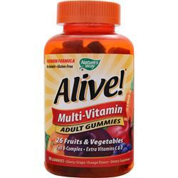 NATURE'S WAY Alive Multi Adult Gummies Cherry/Grape/Orange 90 gummy