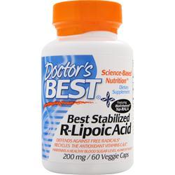 Doctor's Best Stabilized R-Lipoic Acid with BioEnhanced Na-RALA (200mg) 60 vcaps