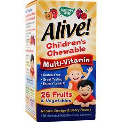 NATURE'S WAY Alive Children's Chewable Multi-Vitamin Orange & Berry 120 tabs
