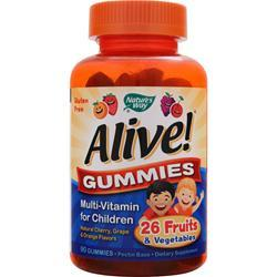 Nature's Way Alive Gummies - Multi Vitamin for Children Cherry, Grape & Orange 90 gummy