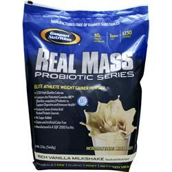 GASPARI NUTRITION Real Mass Probiotic Series Rich Vanilla Milkshake 12 lbs