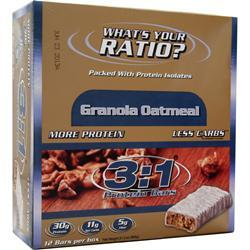 METRAGENIX 3:1 Protein Bar Granola Oatmeal 12 bars