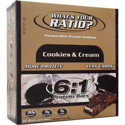 METRAGENIX 6:1 Protein Bar Cookies & Cream 12 bars