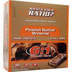 METRAGENIX 6:1 Protein Bar Peanut Butter Brownie 12 bars
