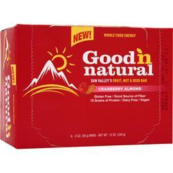 GOOD 'N NATURAL Sun Valley's Fruit, Nut & Seed Bar Cranberry Almond 6 bars
