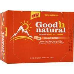 Good 'N Natural Sun Valley's Fruit, Nut & Seed Bar Peanut Butter 6 bars