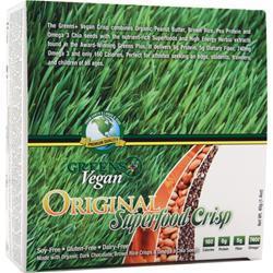 GREENS PLUS Vegan Crisp Bar Orginial Superfood Crisp 12 bars