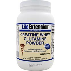 Life Extension Creatine Whey Glutamine Powder Vanilla Flavor 2.35 lbs
