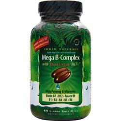IRWIN NATURALS Mega B-Complex with Quick Energy MCT's 60 sgels