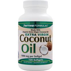 Jarrow Coconut Oil - Extra Virgin 120 sgels