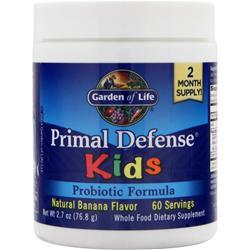 GARDEN OF LIFE Primal Defense Kids - Probiotic Formula Banana 2.7 oz