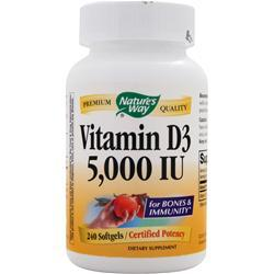 NATURE'S WAY Vitamin D3 (5000IU) 240 sgels