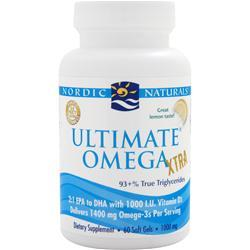 NORDIC NATURALS Ultimate Omega Xtra Lemon 60 sgels