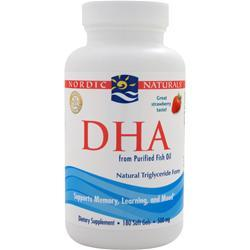 NORDIC NATURALS DHA - from Purified Fish Oil Strawberry 180 sgels