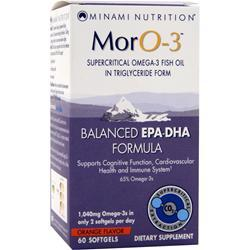 MINAMI NUTRITION MorO-3 - Supercritical Omega 3 Fish Oil Orange 60 sgels