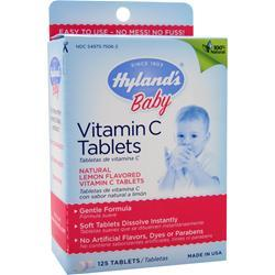 HYLANDS HOMEOPATHIC Vitamin C (25mg) Baby (Lemon) 125 tabs