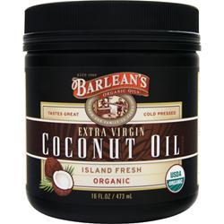 BARLEAN'S Organic Extra Virgin Coconut Oil 16 fl.oz