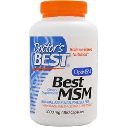 DOCTOR'S BEST Best MSM (1000mg) 180 caps