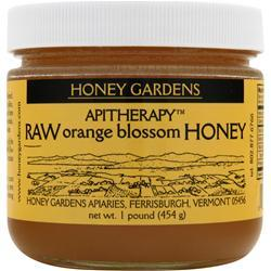 Honey Gardens Apitherapy Raw Orange Blossom Honey 16 oz