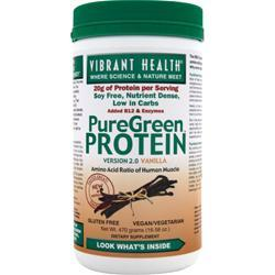 VIBRANT HEALTH PureGreen Protein Vanilla 470 grams