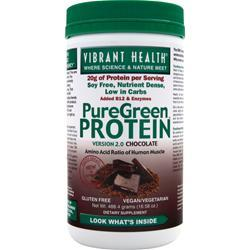 Vibrant Health PureGreen Protein Chocolate 488.4 grams
