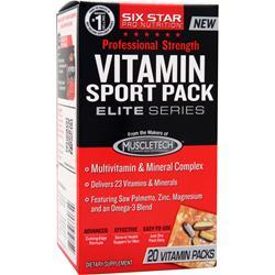 SIX STAR PRO NUTRITION Professional Strength Vitamin Sport Pack Elite Series 20 pckts