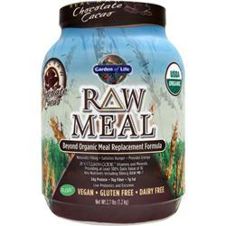 GARDEN OF LIFE Raw Meal - Beyond Organic Meal Replacement Formula Chocolate Cocao 2.7 lbs