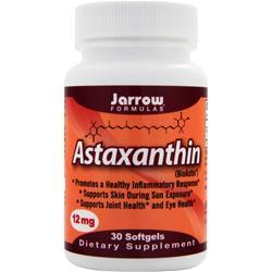 JARROW Astaxanthin - BioAstin (12mg) 30 sgels