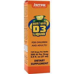 JARROW D3 Liquid Lemon Best by 9/14 .9 fl.oz